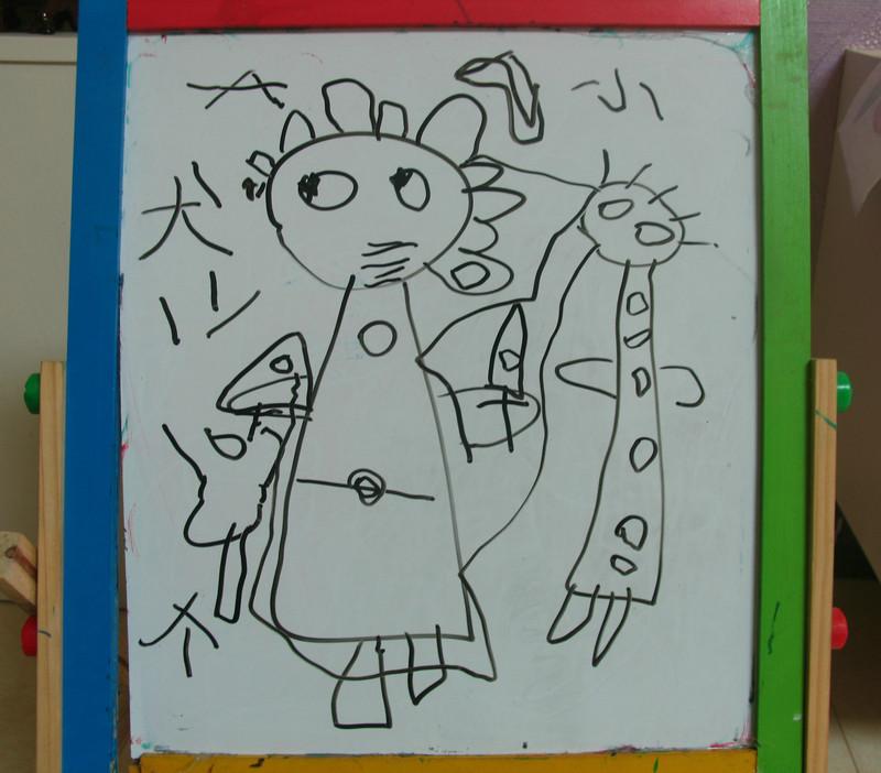 幼儿园小朋友的抽象画
